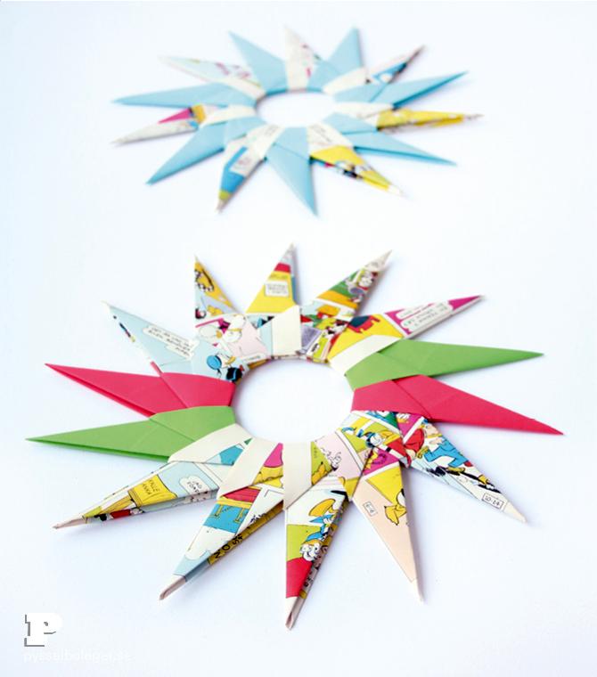 Origami paper stars5