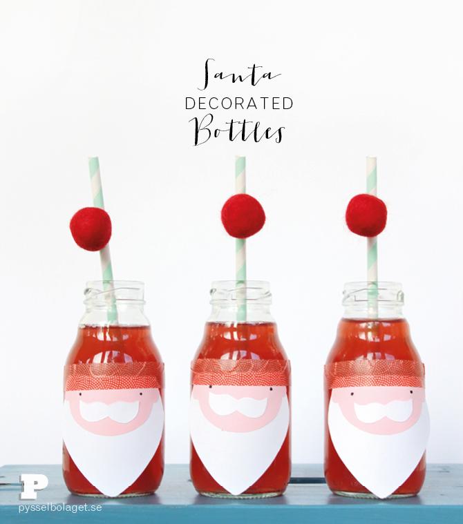 Santa bottles