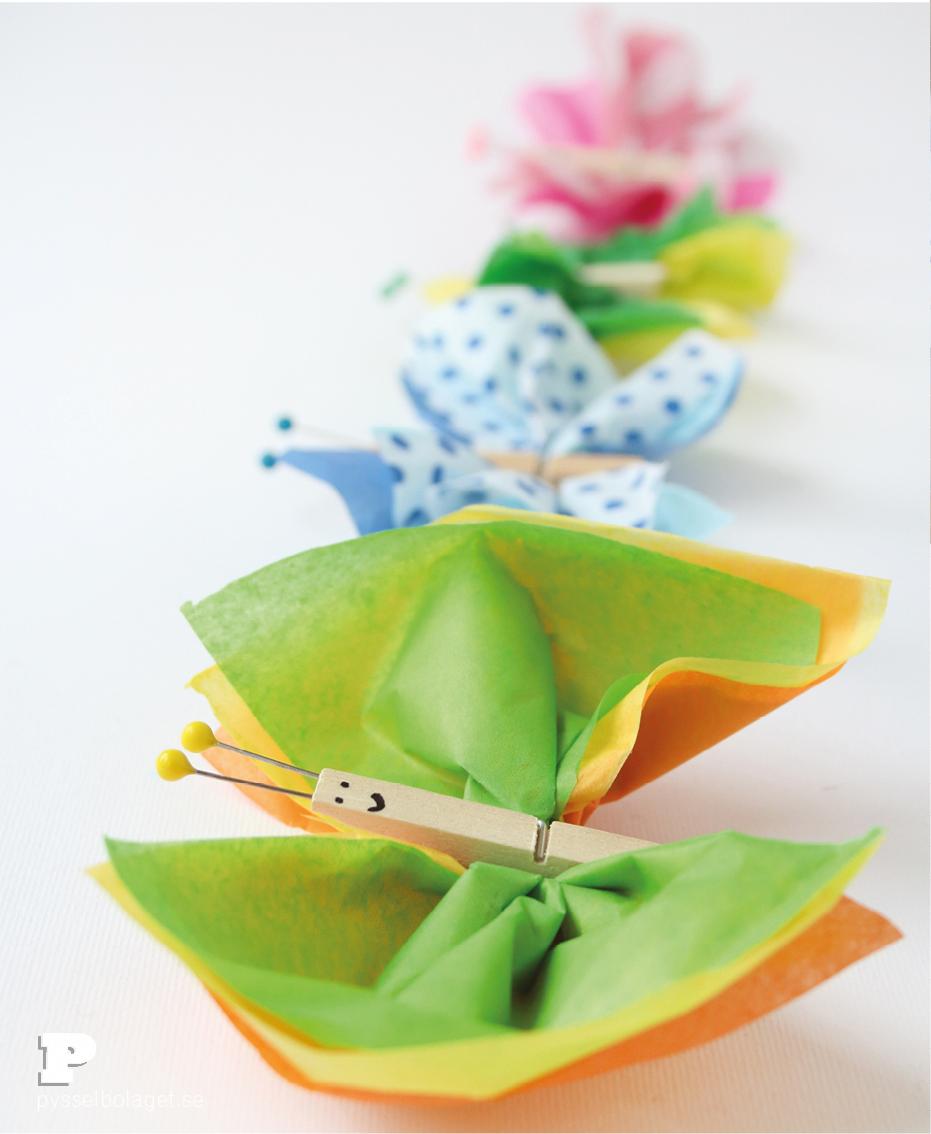 Tissue paper butterflies4