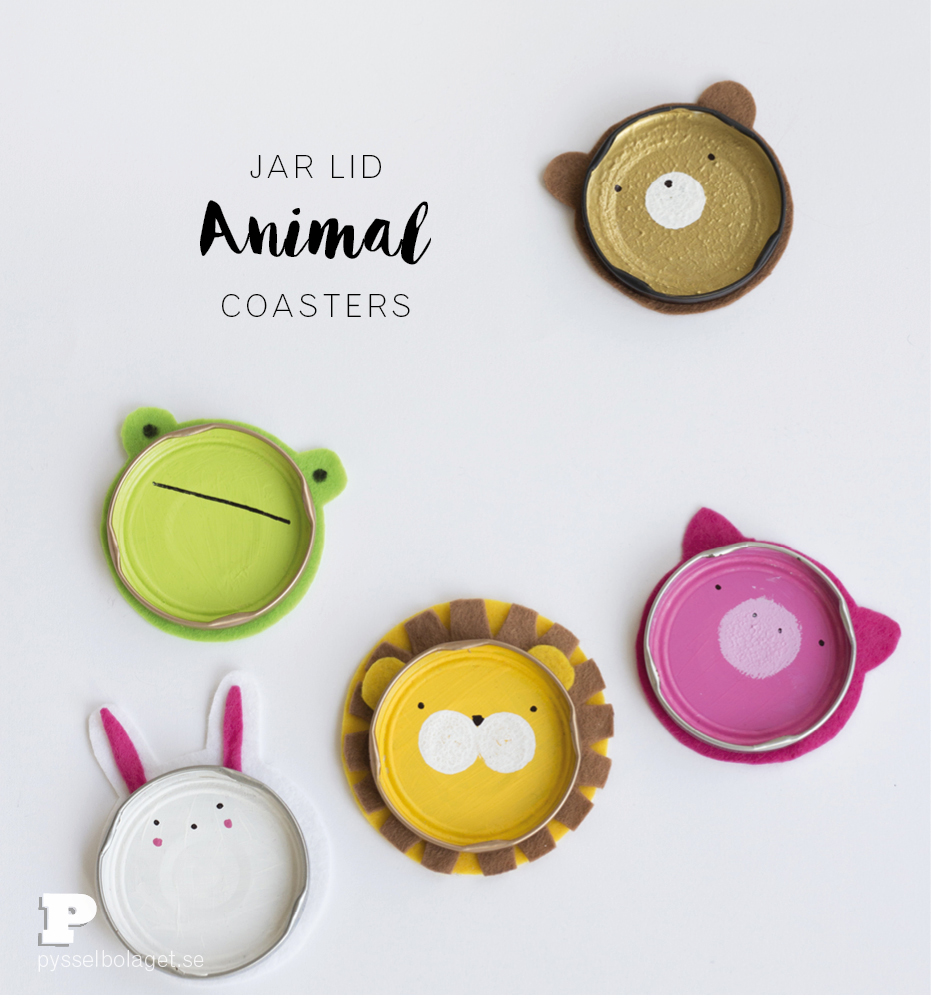 Jar lid coasters