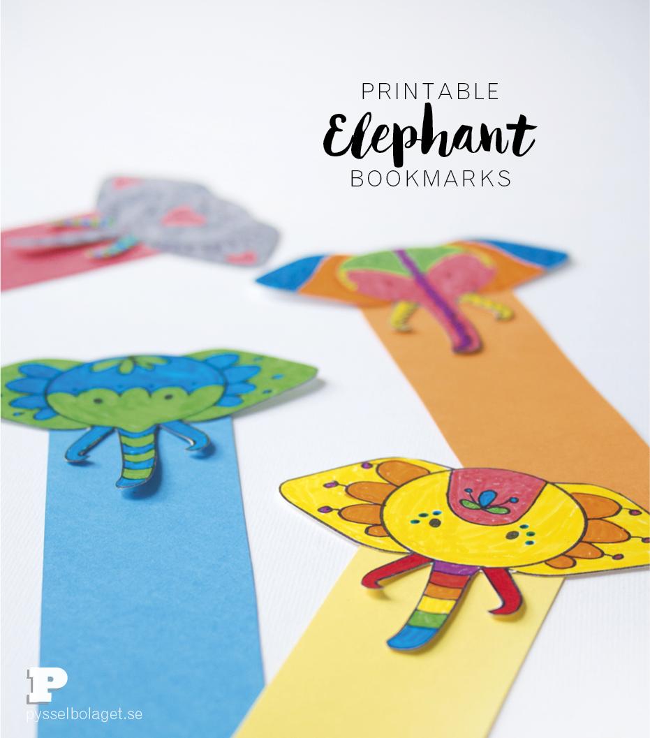 Elephant bookmarks