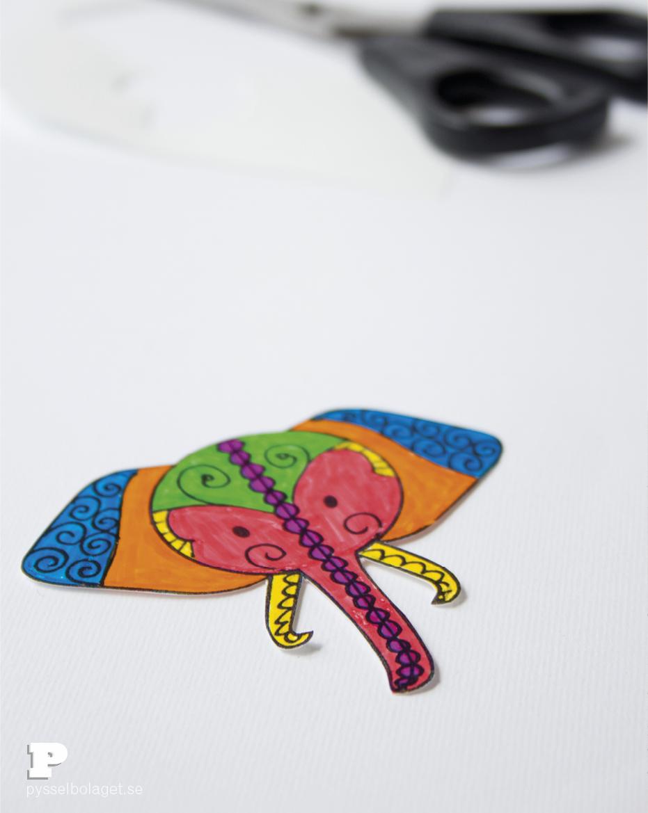 Elephant bookmarks 4