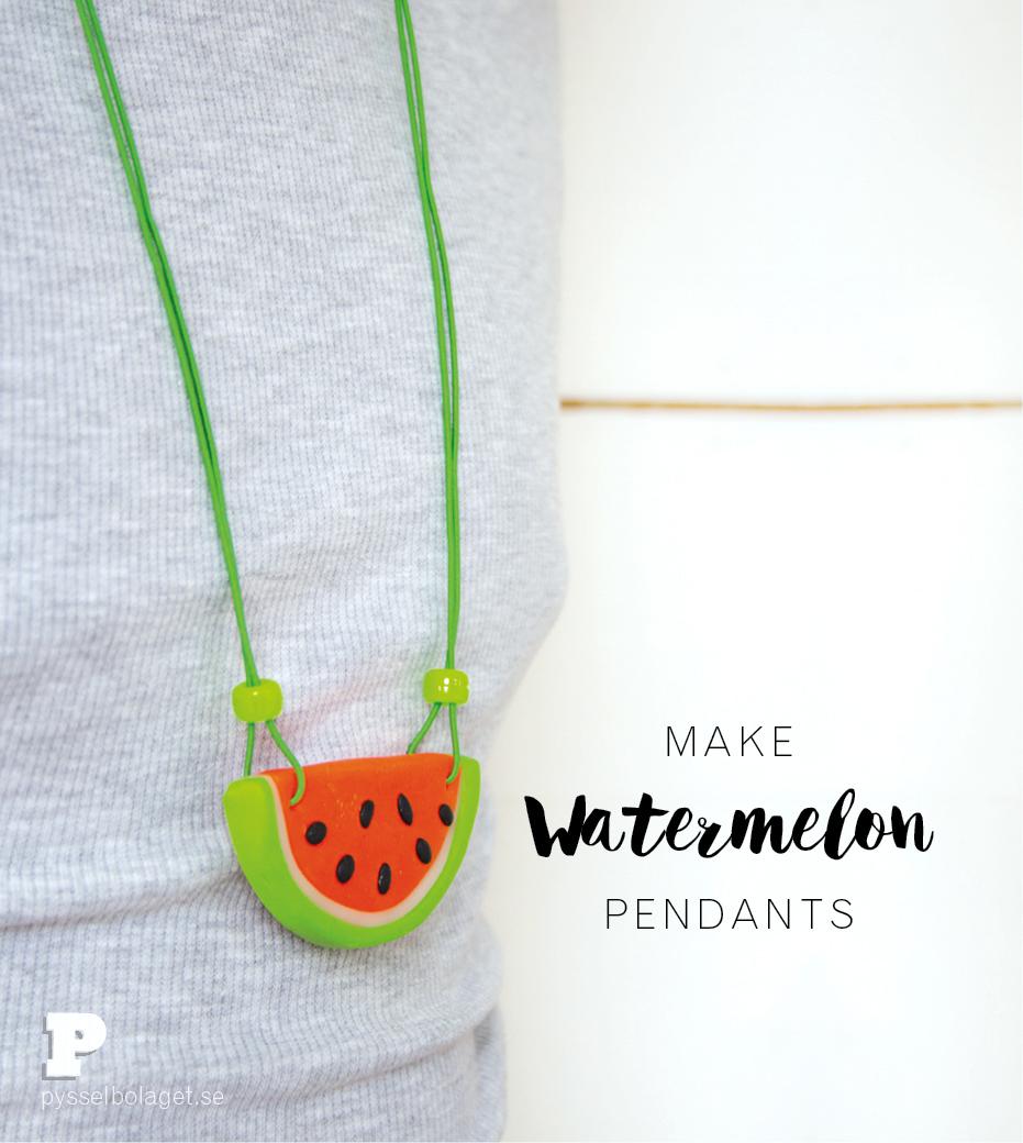 Watermelon pendants
