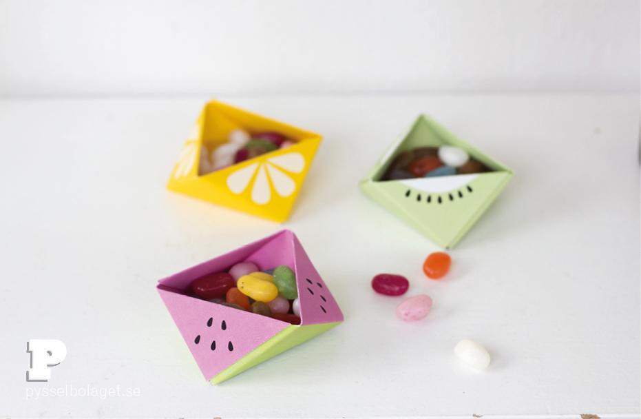 Origami fruit bowl by Pysselbolaget