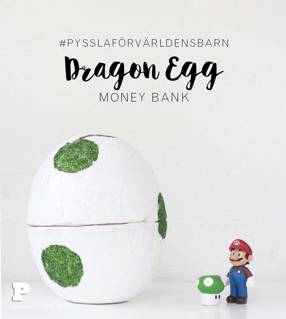 Dragon egg Money Bank by Pysselbolaget