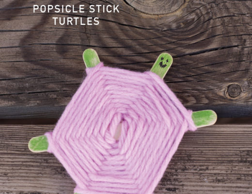 Popsicle stick turtles by Pysselbolaget