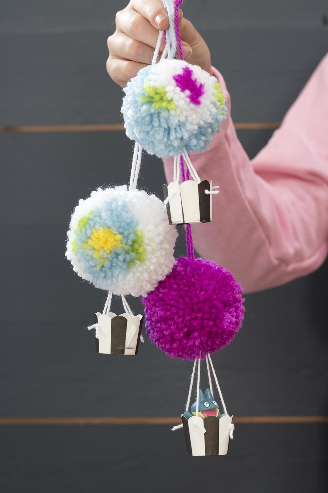 Luftballong av garnbollar | Pysselbolaget