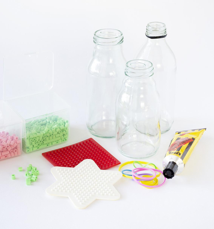Dekorerade glasflaskor material | Pysselbolaget