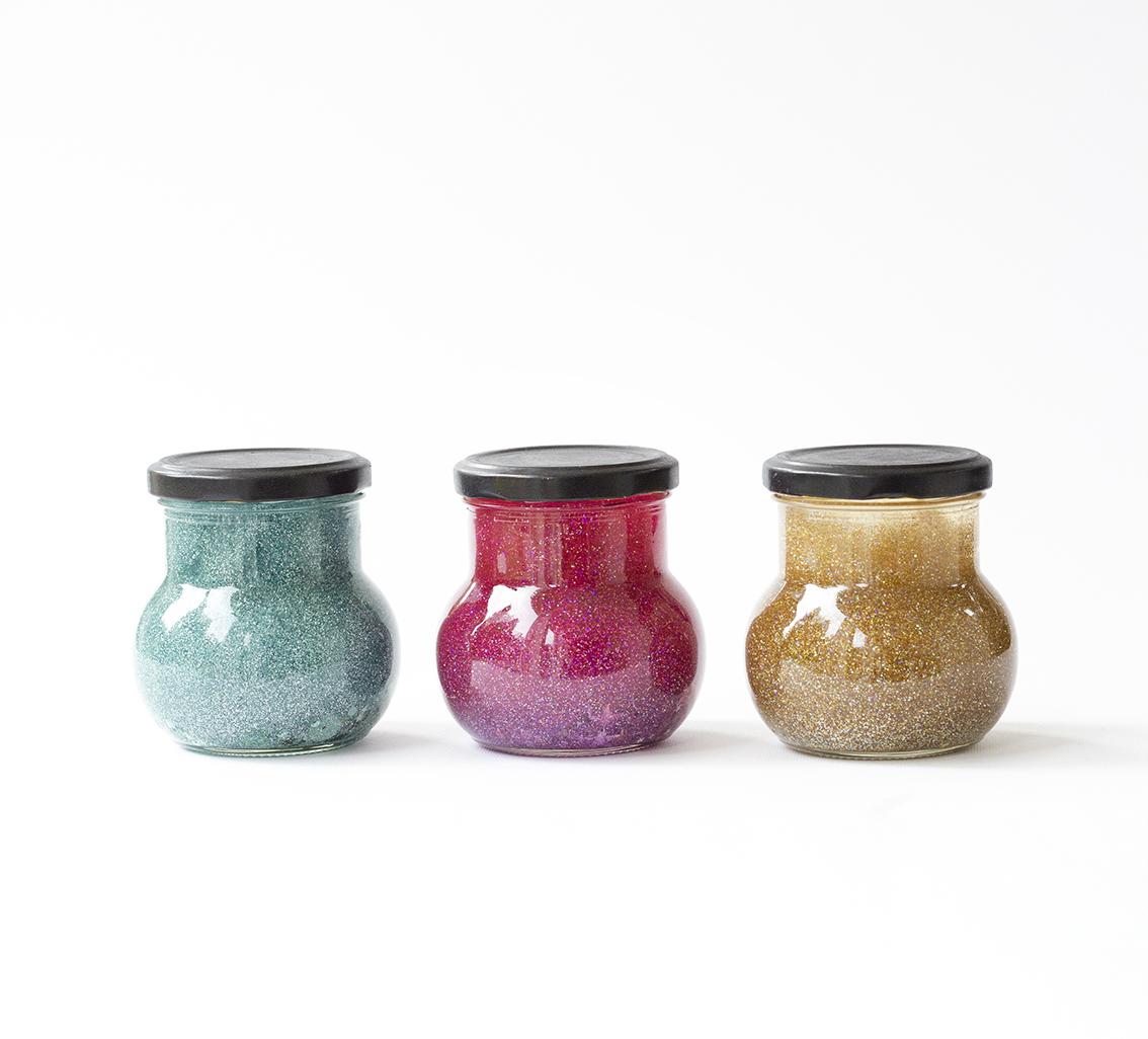Lugnande glitterburkar | Pysselbolaget