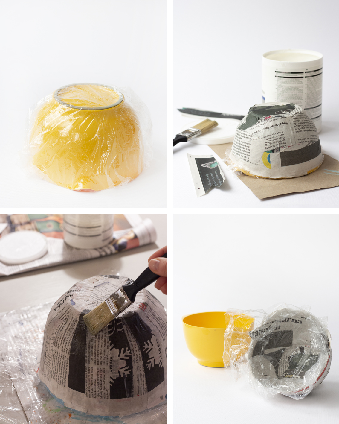 Papier maché skålar | Pysselbolaget